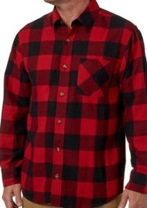 Field & Stream Red & Black Flannel Shirt